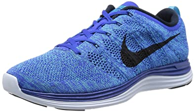 separation shoes 5722c b8a7b Nike Men s Flyknit Lunar1+ Gm Ryl Drk Obsdn Chlrn Bl Bl T Running