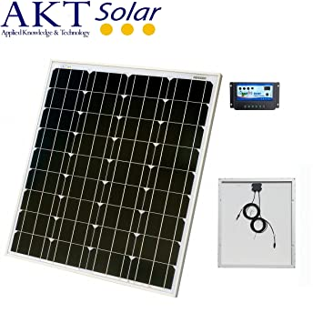 Incredible 80W Akt Solar Panel Kit With 10A Charge Controller And 5M Wires Complete Kit For A 12V System Eg In A Caravan Boat Or Outhouse Wiring Digital Resources Otenewoestevosnl