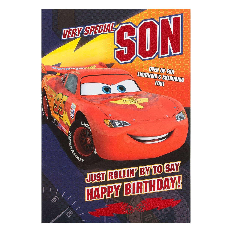 Son Personalised Birthday Card CARS Nephew Grandson MCQUEEN Friend