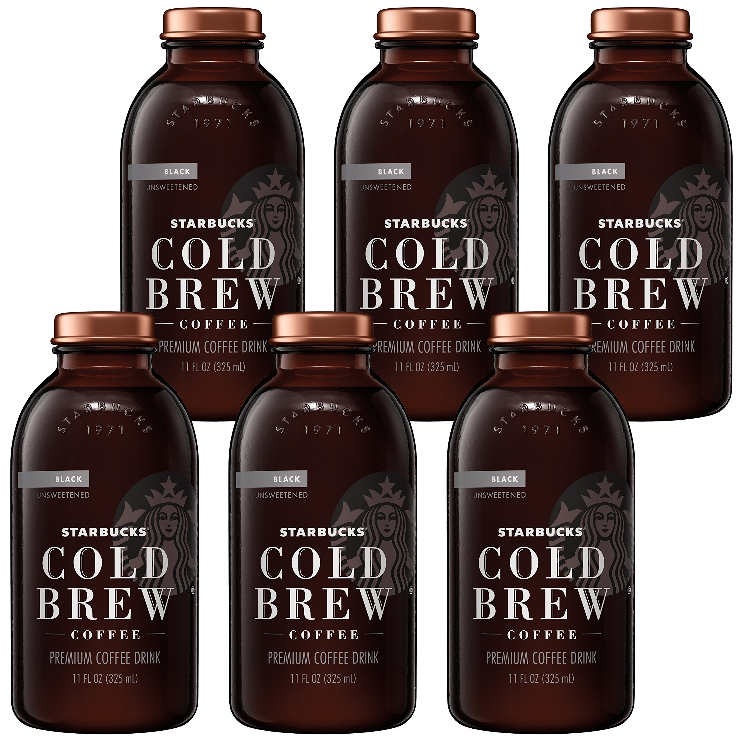 Starbucks Cold Brew Coffee, Black Unsweetened, 11 oz Glass Bottles, 6 Count by Starbucks (Image #4)