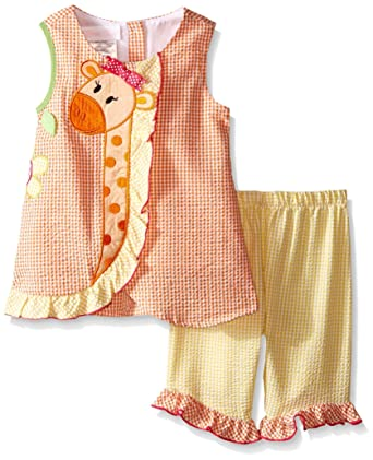 Amazon Bonnie Baby Baby Girls Seersucker Top With Giraffe To