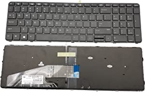 New Keyboard for HP ProBook 450 G3 455 G3 470 G3 Series US Layout Black Backlight Frame
