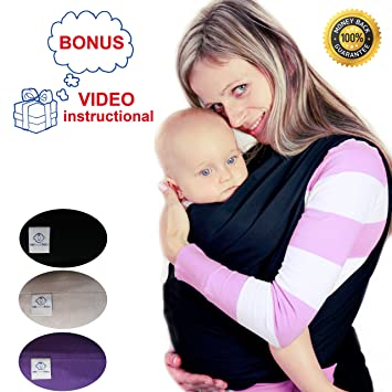 Amazon Com Baby Carrier Wrap Comfortable Baby Sling Wrap By Km