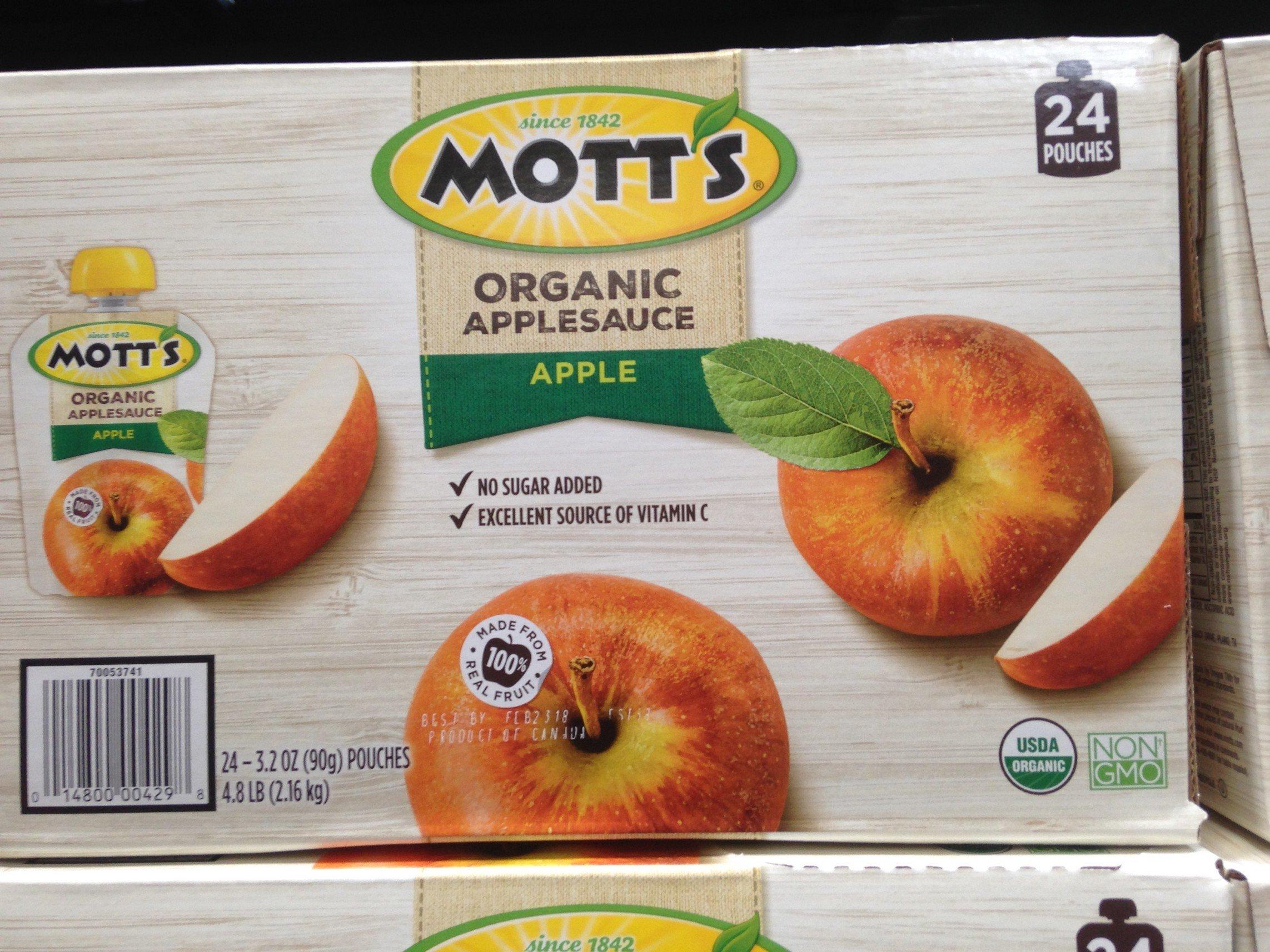 Organic Mott's apple sauce 24/3.2 oz (pack of 6)
