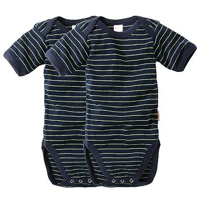 à 2 pièces Set Baby Body - Enfants Body manches courtes marine jaune fluo  rayé Taille 6d3033302e0