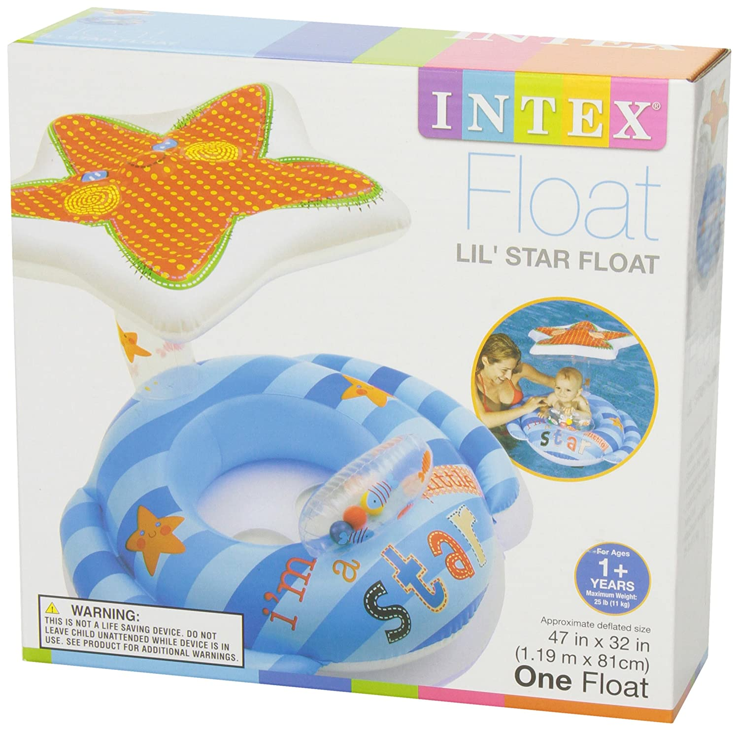 Amazon.com: Intex 56582EP Inflatable Lil\' Star Baby Float, 47 x 32 ...