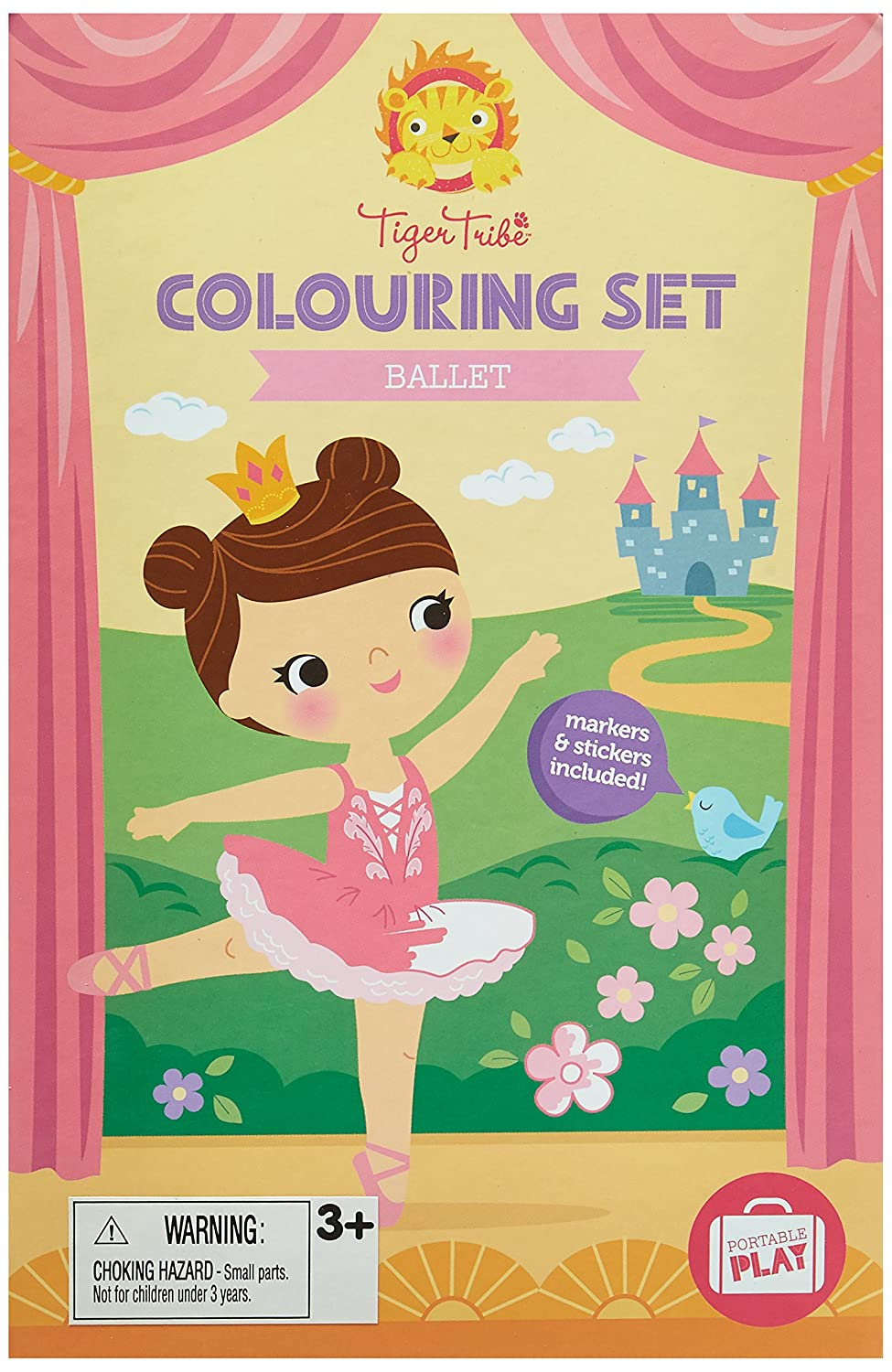 Amazon.com: Tiger Tribe Colouring Set, Ballet Arts and Crafts Kit ...