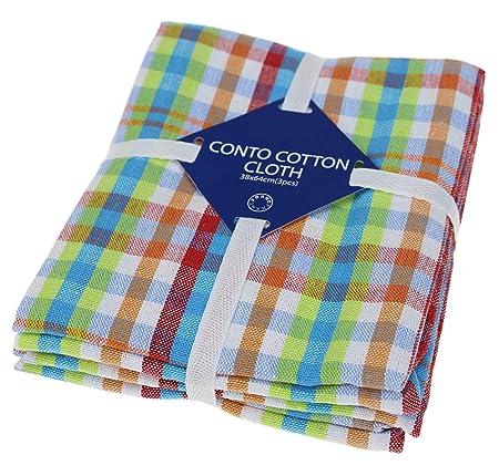 Paños de cocina clásicos, 100% de algodón natural, las mejores toallas de cocina, absorbentes y sin pelusa, lavables a máquina, de 40 x 60 cm, 3 unidades, ...