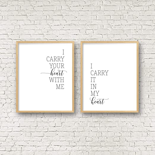 I Carry Your Heart With Me Print Ee Cummings Poema