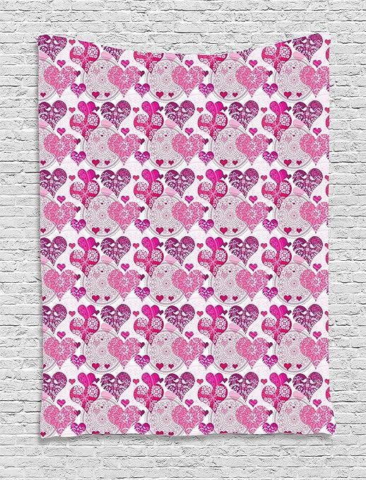 ABAKUHAUS Copas Tapiz de Pared, Símbolos del Amor Diseño, para el ...