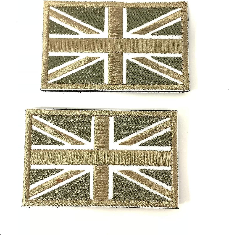 2 Parches Velcro x Reino Unido Inglaterra Emblema Gran Bretaña ...