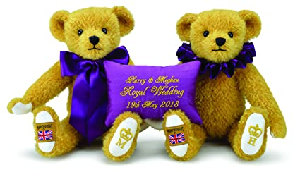 13d891e924c Image Unavailable. Image not available for. Color  Harry And Meghan 2018  Royal Wedding Teddy Bears