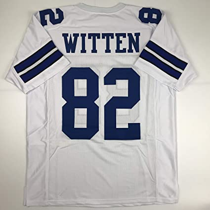 29dcdb2a22d Unsigned Jason Witten Dallas White Custom Stitched Football Jersey Size  Men's XL New No Brands/
