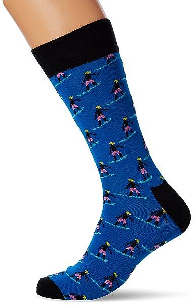 Happy Socks Surfer Sock, Calcetines para Hombre, Multicolor, 41/44 ES (