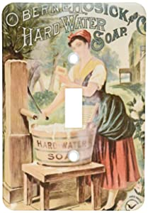3dRose LLC lsp_119796_1 Perfect for Laundry Room a Vintage Soap Ad Single Toggle Switch