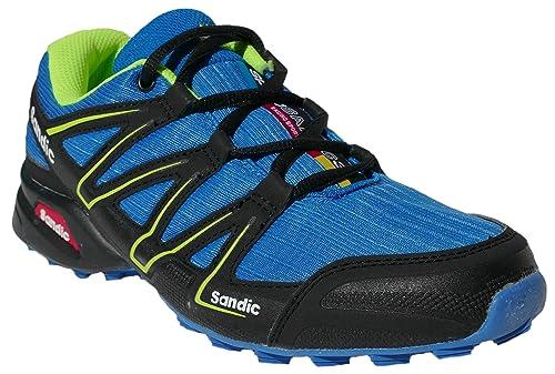gibra , Chaussures de course pour homme - Bleu - blau/schwarz/neongrün,
