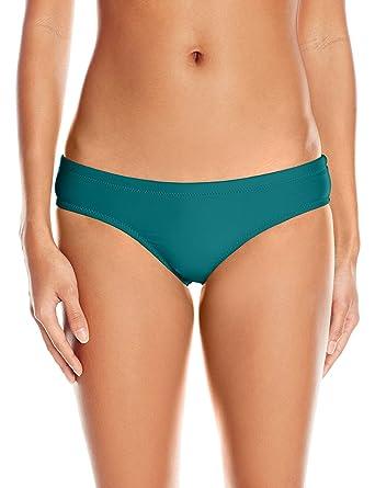 3bcfd82089 Amazon.com  Volcom Women s Simply Solid Cheeky Bikini Bottom  Clothing