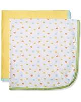 Gerber Baby Unisex 2 Pack Thermal Blanket, Elephant, 30x30