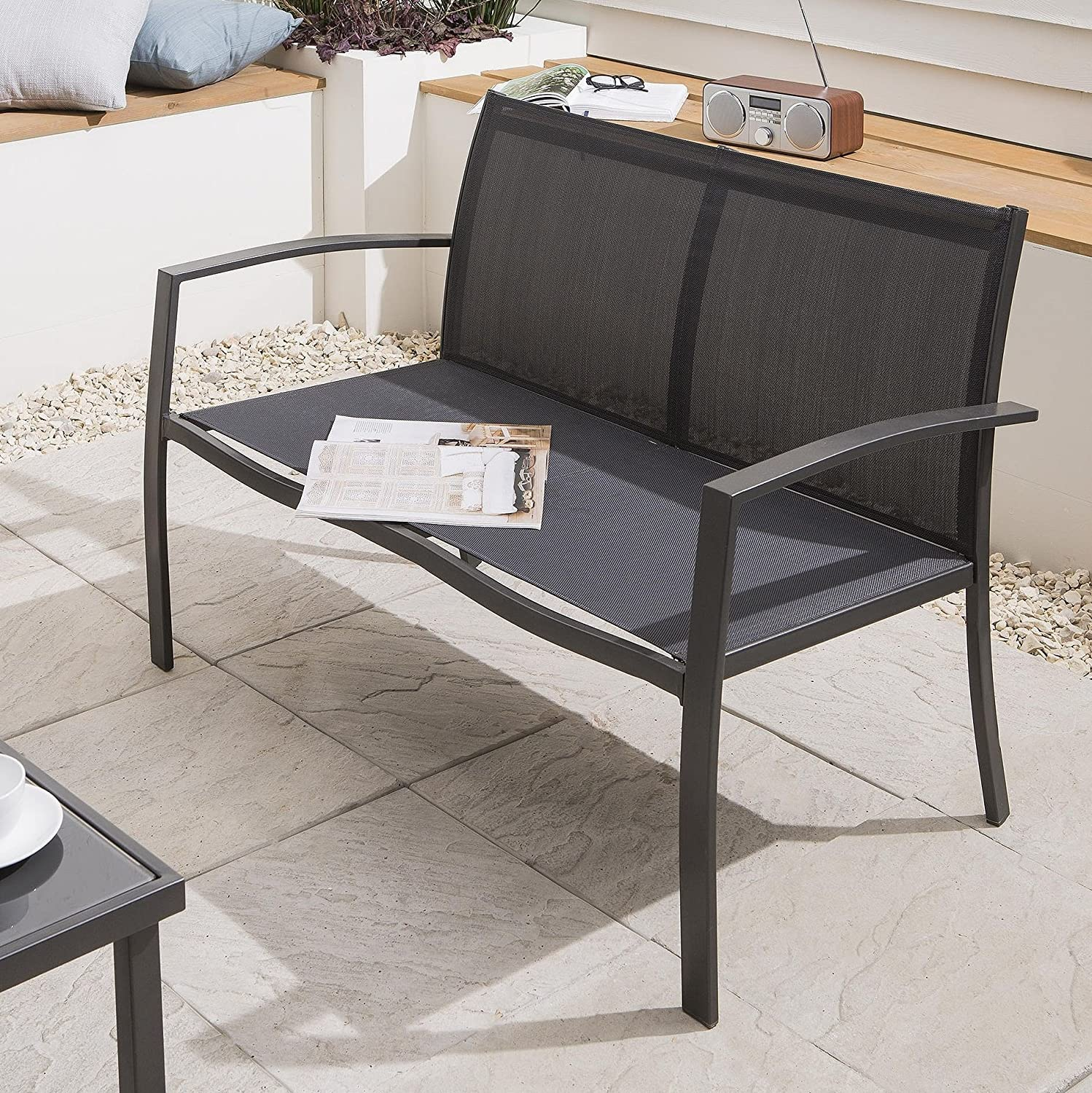 NEW Tesco 4 Piece Garden Furniture Lounge Set Charcoal Amazon