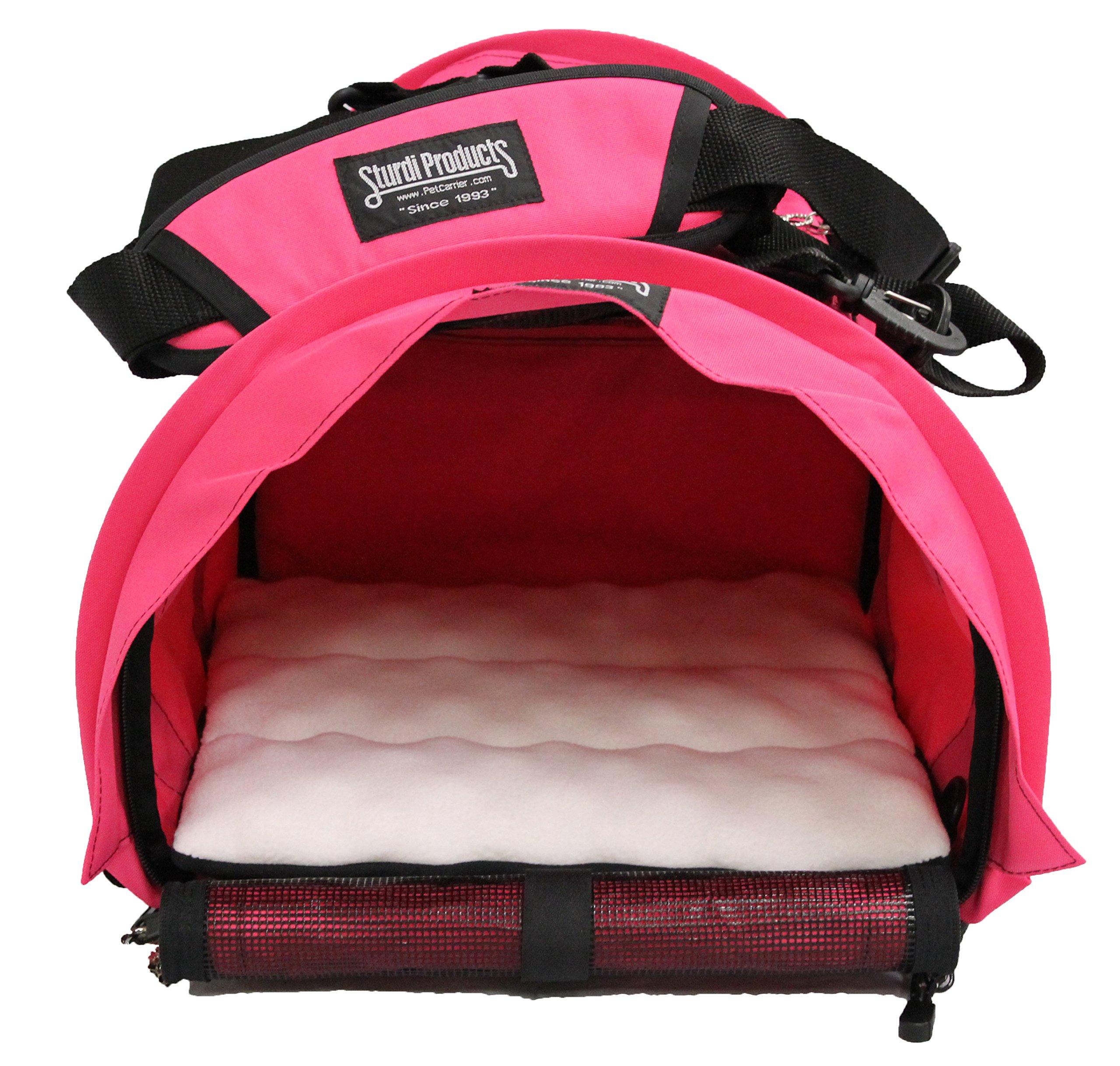 STURDI PRODUCTS SturdiBag Cube Large Pet Carrier, Hot Pink by STURDI PRODUCTS