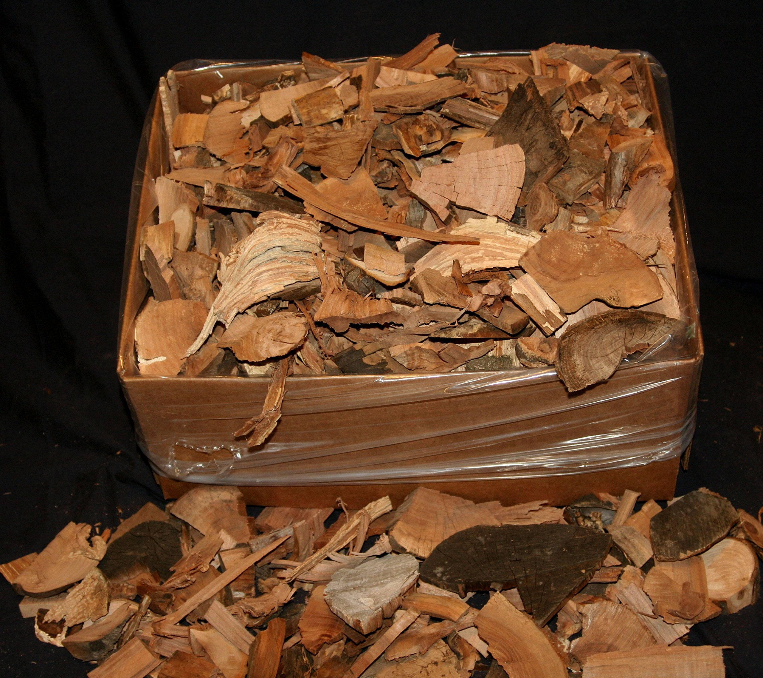 J.C.'s Smoking Wood Chips - 1500 Cu Inch Box -15#'s - Apple Large End Chips