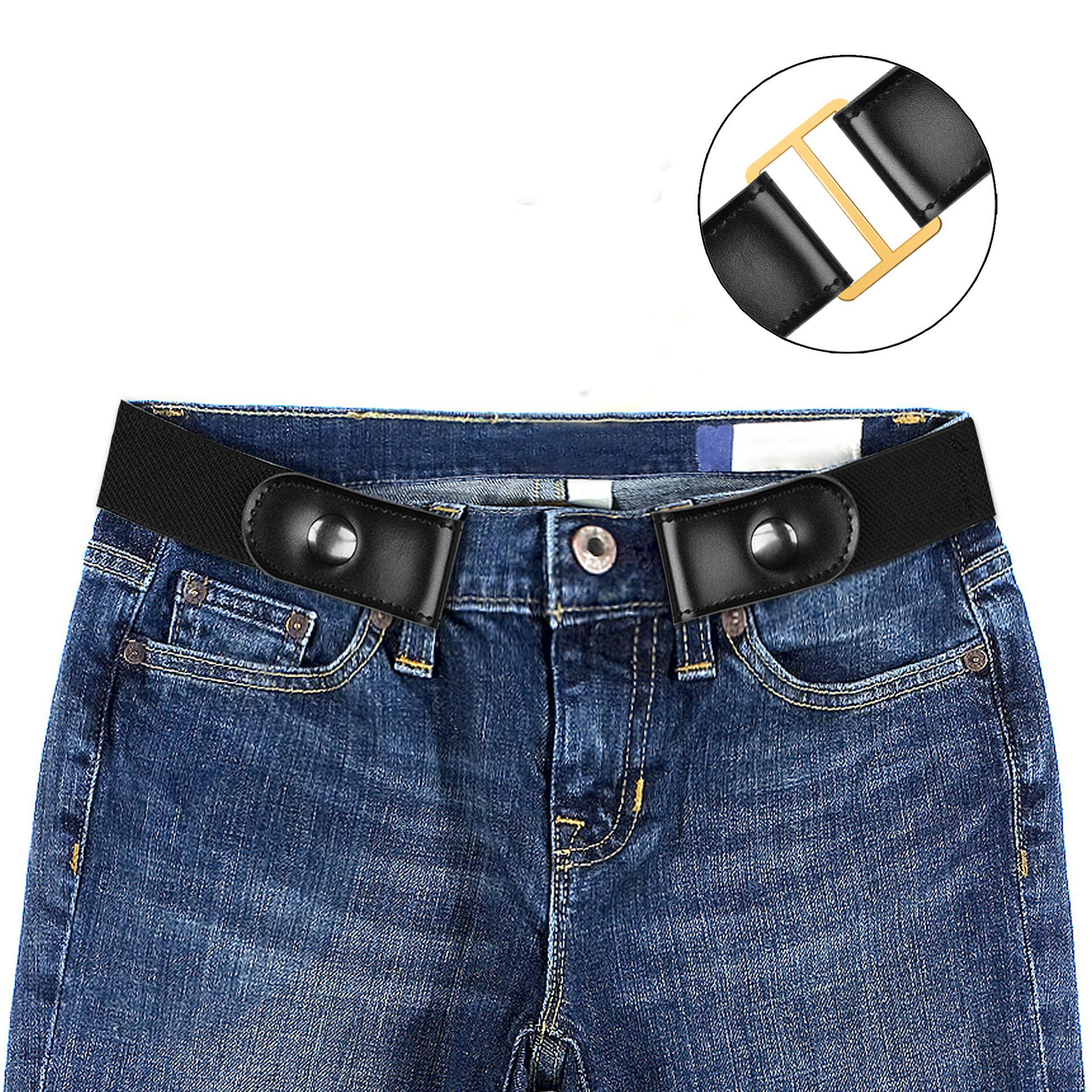 Buckle-free Elastic Women Belt for Jeans without Buckle, Dimi Comfortable Invisible Belt No Bulge No Hassle,L
