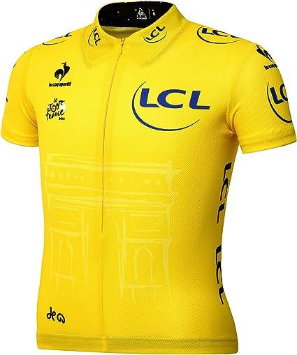 Le Coq Sportif – Camiseta amarilla niños Oficial del Tour de Francia, Niño, color amarillo, tamaño 10 años: Amazon.es: Deportes y aire libre