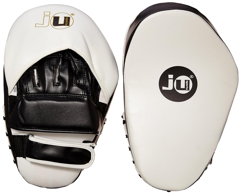 Ju-Sports 3502300 Curved Plus - Manoplas de boxeo, color negro y blanco