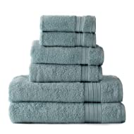 HygroSoft Fast Drying and Absorbent 100% Cotton 6-piece Towel Set, Glacier