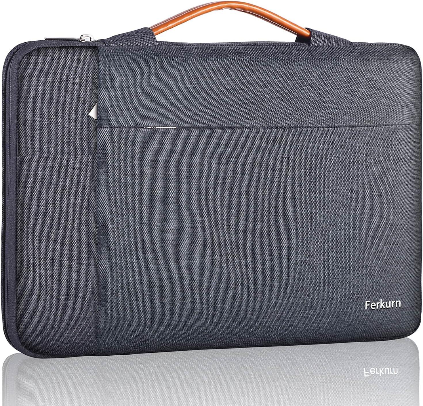 Ferkurn 14 inch Laptop Sleeve Case for Chromebook 14/ ThinkPad IdeaPad/Latitude Inspiron/Pavilion EliteBook/ZenBook VivoBook/Acer Aspire Swift 7, Waterproof Protective Laptop Computer Carrying Bag