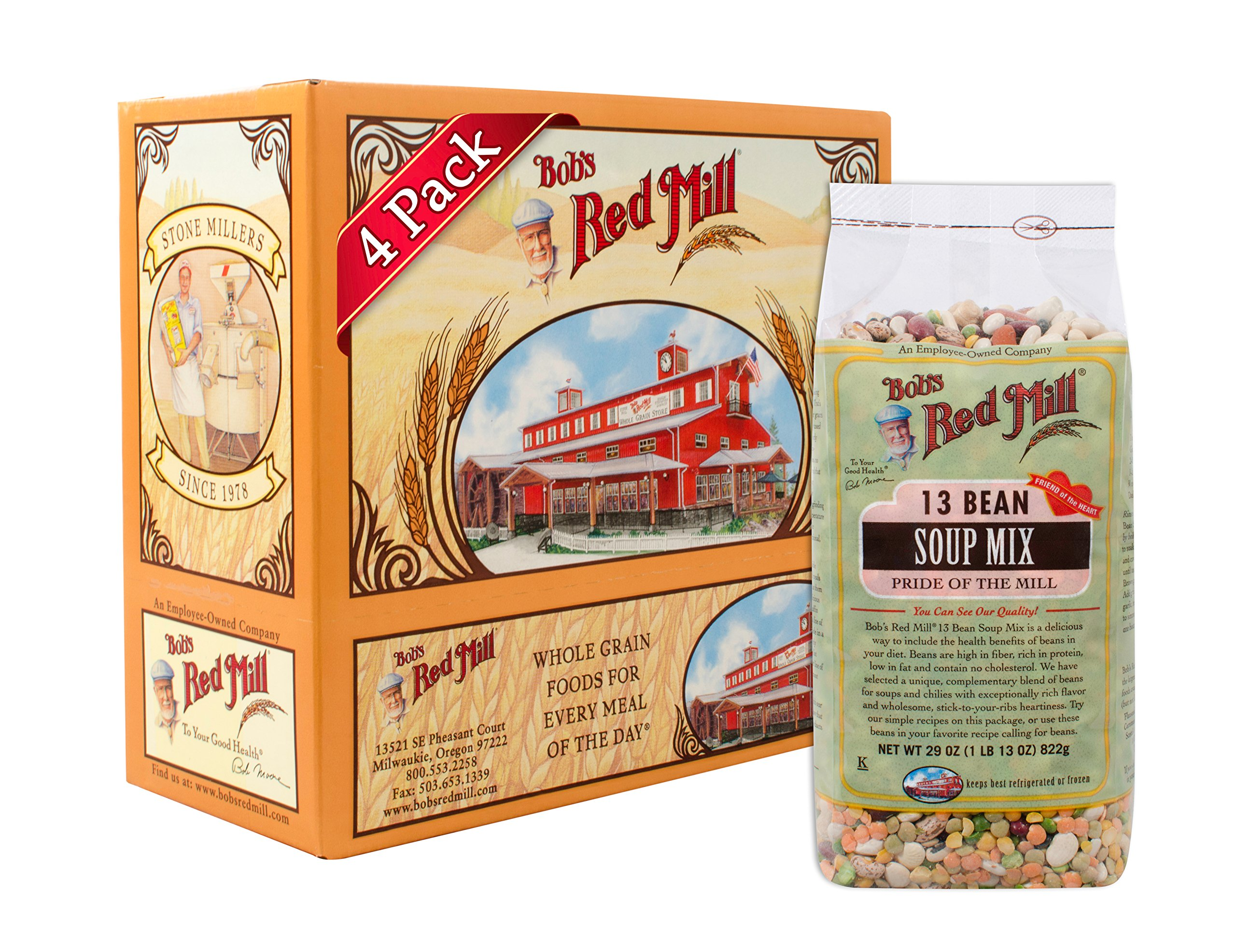 Bob's Red Mill 13 Bean Soup Mix, 29-ounce (Pack of 4) by Bob's Red Mill