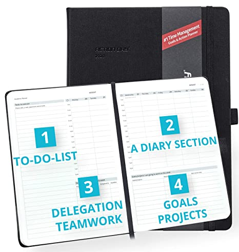 Clearance Sale - Action Day Academic Planner 2019-2020 - #1 Time Management Design & Get Things Done, Daily Weekly Monthly Yearly Journal, Agenda, ...