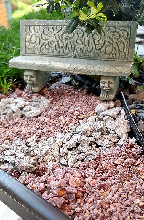 Pequeña escala granito grava para jardines, jardines de hada en miniatura, modelo ferrocarriles y maquetas. (gris/blanco granito grava Pequeño 8 oz): Amazon.es: Jardín
