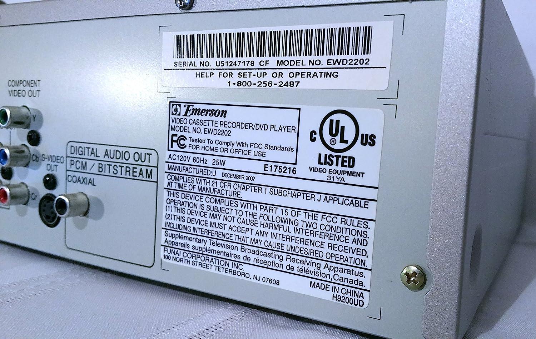 amazon com emerson ewd2202 dual deck dvd vcr combo electronics rh amazon com DVD Recorder VCR Combo DVD Recorder VCR Combo