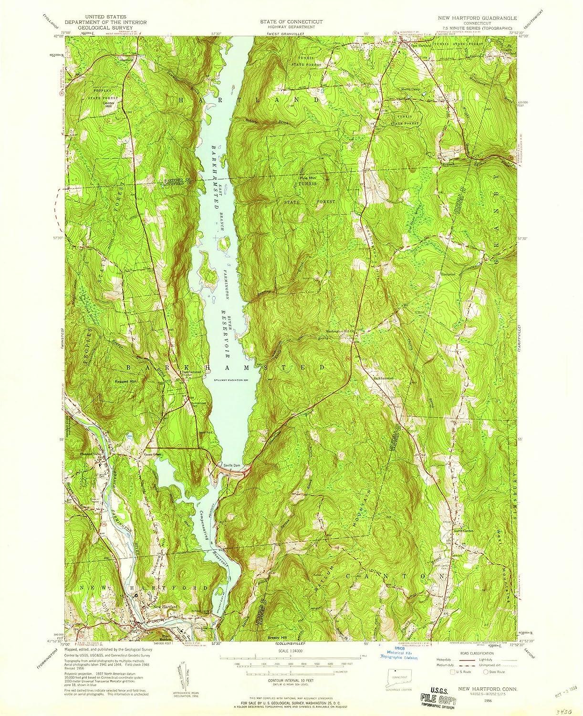 Amazon.com: Historic Map   New Hartford, Connecticut (CT ...