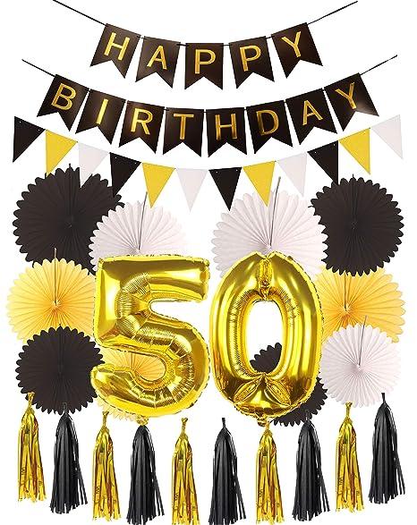 Amazon.com: 50th Birthday Party Decorations KIT - Happy ...