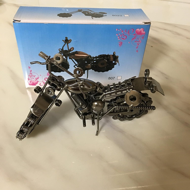 AI Creative - Figura decorativa de hierro hecho a mano con rueda de cadena para los amantes de la motocicleta, diseño vintage: Amazon.es: Hogar