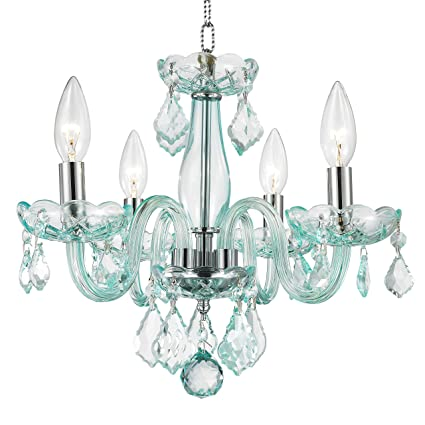 Amazon worldwide lighting w83100c16 cb clarion 4 light mini worldwide lighting w83100c16 cb clarion 4 light mini crystal chandelier 16quot d x aloadofball Images
