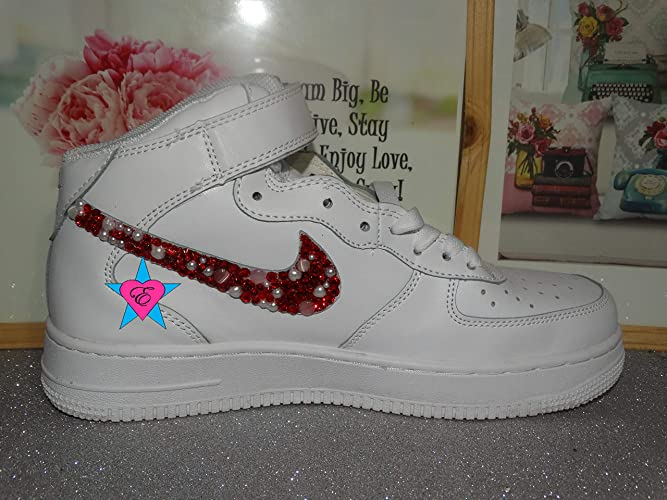 2586cd2fc158fd Amazon.com  Sale - Custom Rhinestone Air Force 1