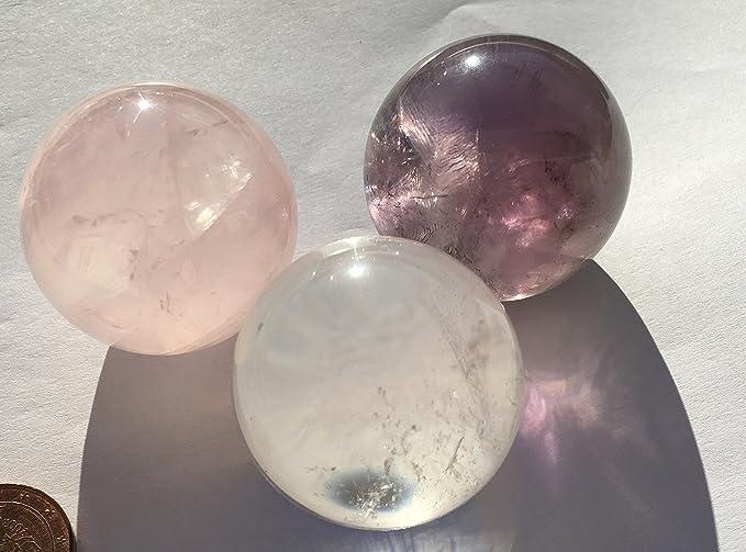 Lampada Cristallo Di Rocca Proprietà : Qgem seven star gruppo ametista chakra sfera sfere di cristallo su