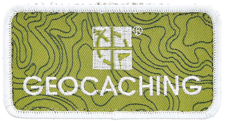 5 x 10 cm Schrift GEO-VERSAND Geocaching Patch 10885 gr/ün // wei/ß