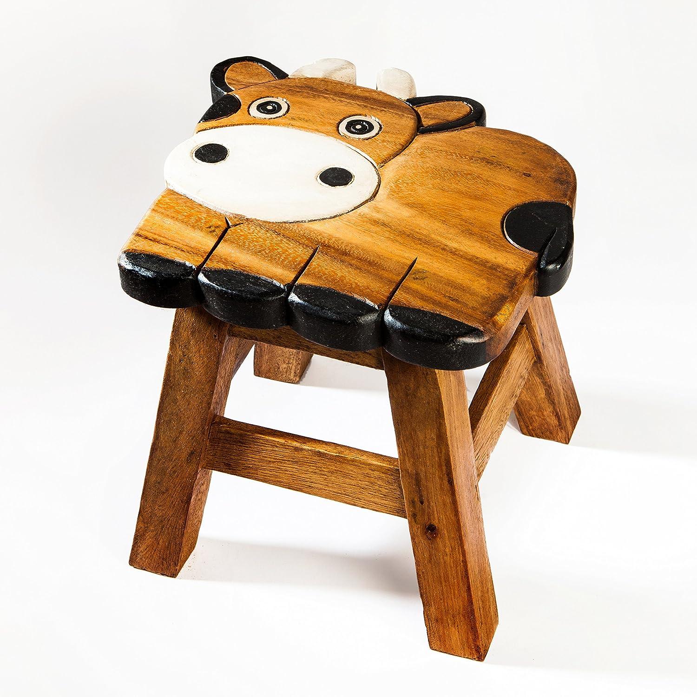 dise/ño madera Robusto Ni/ños Taburete Vaca