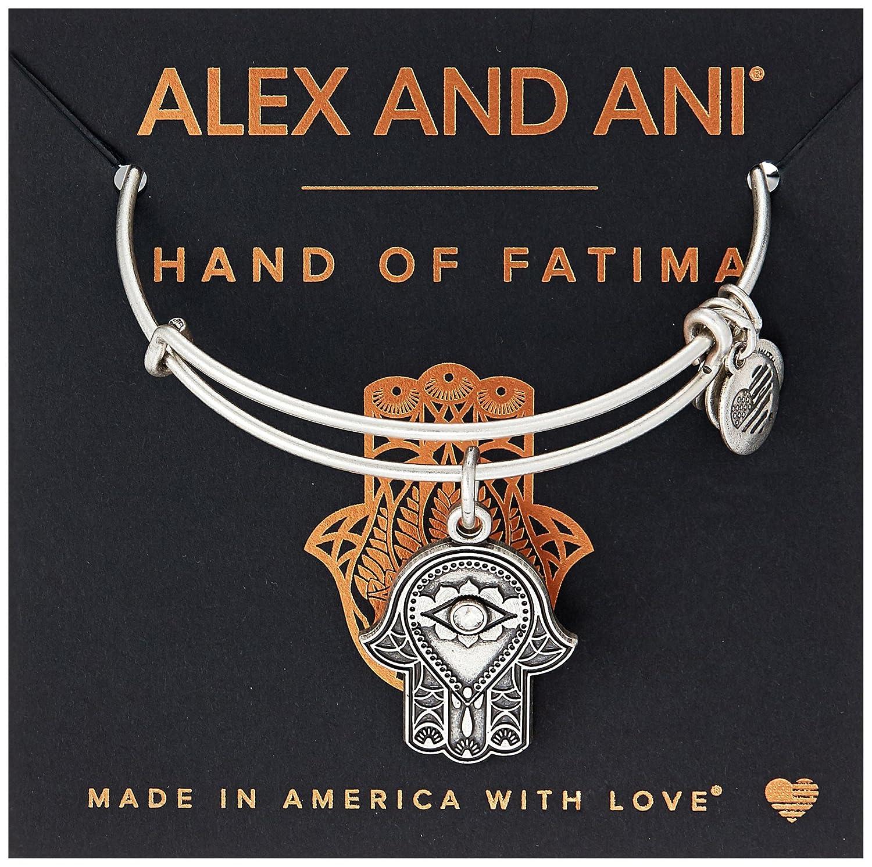 Alex and ANI Hand of Fatima III Bangle Bracelet Expandable