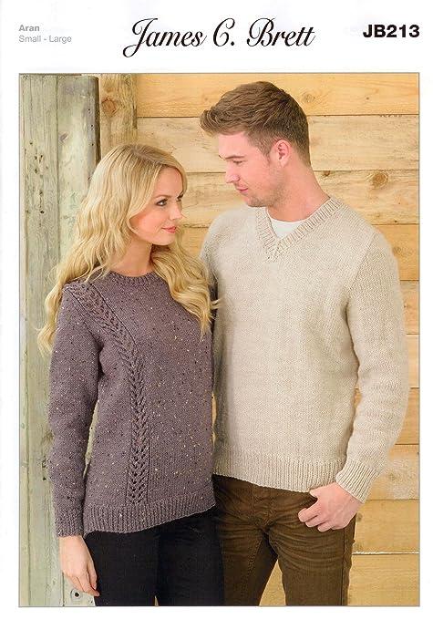 Ladies And Mens Sweater Jb213 Knitting Patterns From James C Brett