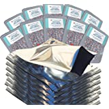 PackFreshUSA One Quart Genuine Mylar Bags with 300cc Oxygen Absorbers with PackFreshUSA LTFS Guide