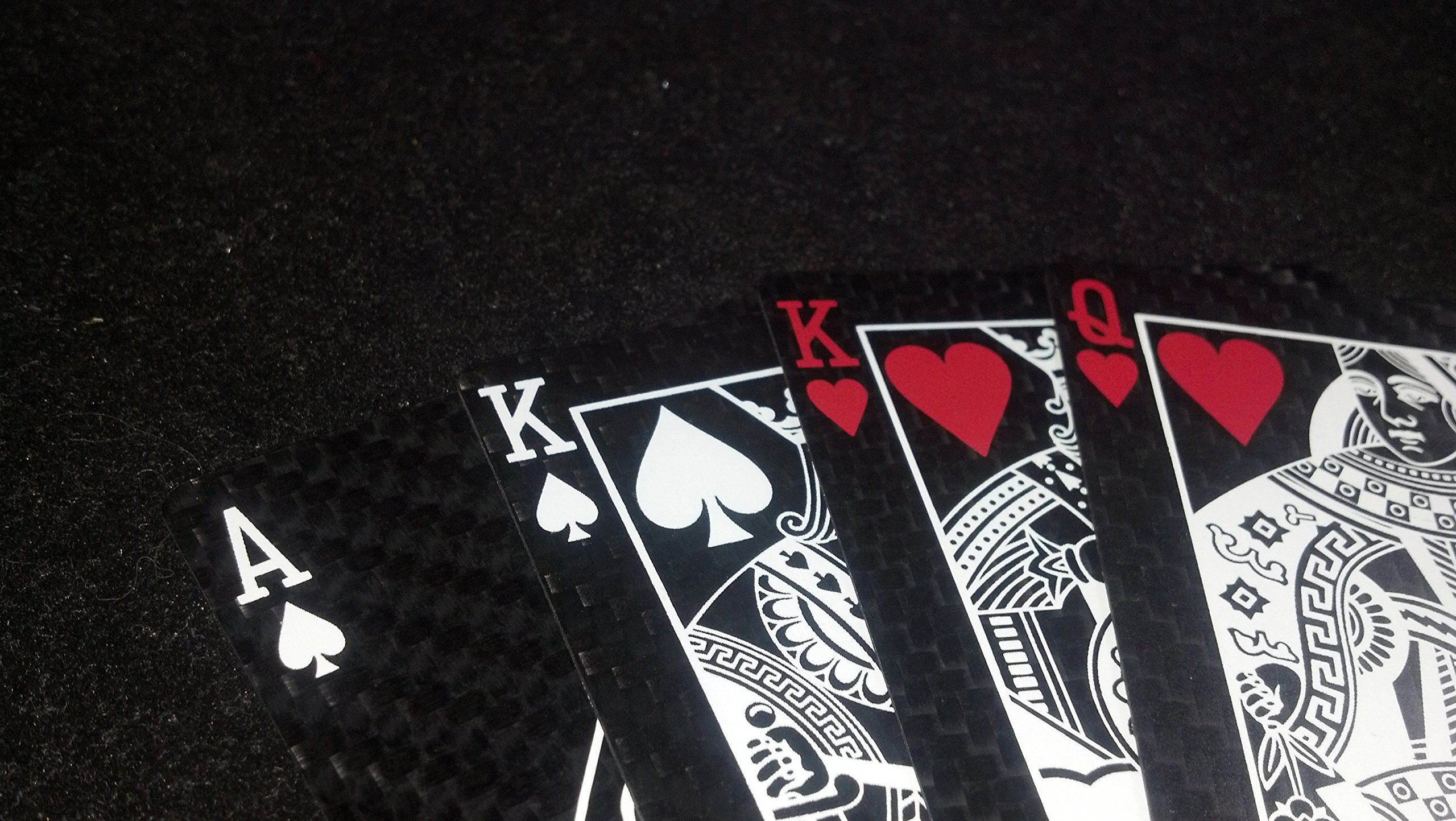 Carbon Fiber Playing Cards by Sly Kly Design