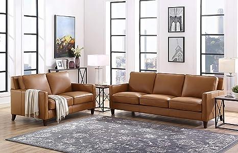 Amazon.com: Hydeline Ashby - Juego de sofás (100% piel ...