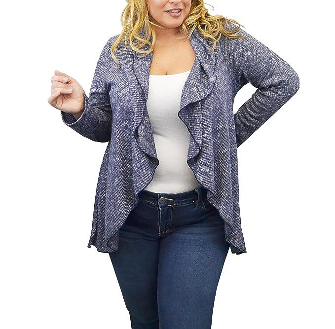 Amazon.com: Mujeres Urbanas Rose PLUS-SIZE chaqueta de punto ...