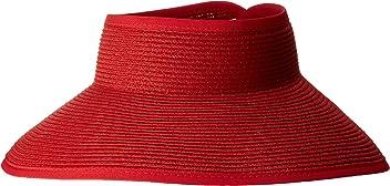 e335f25edb8b7 San Diego Hat Company Women s Ultrabraid Visor with Ribbon Binding