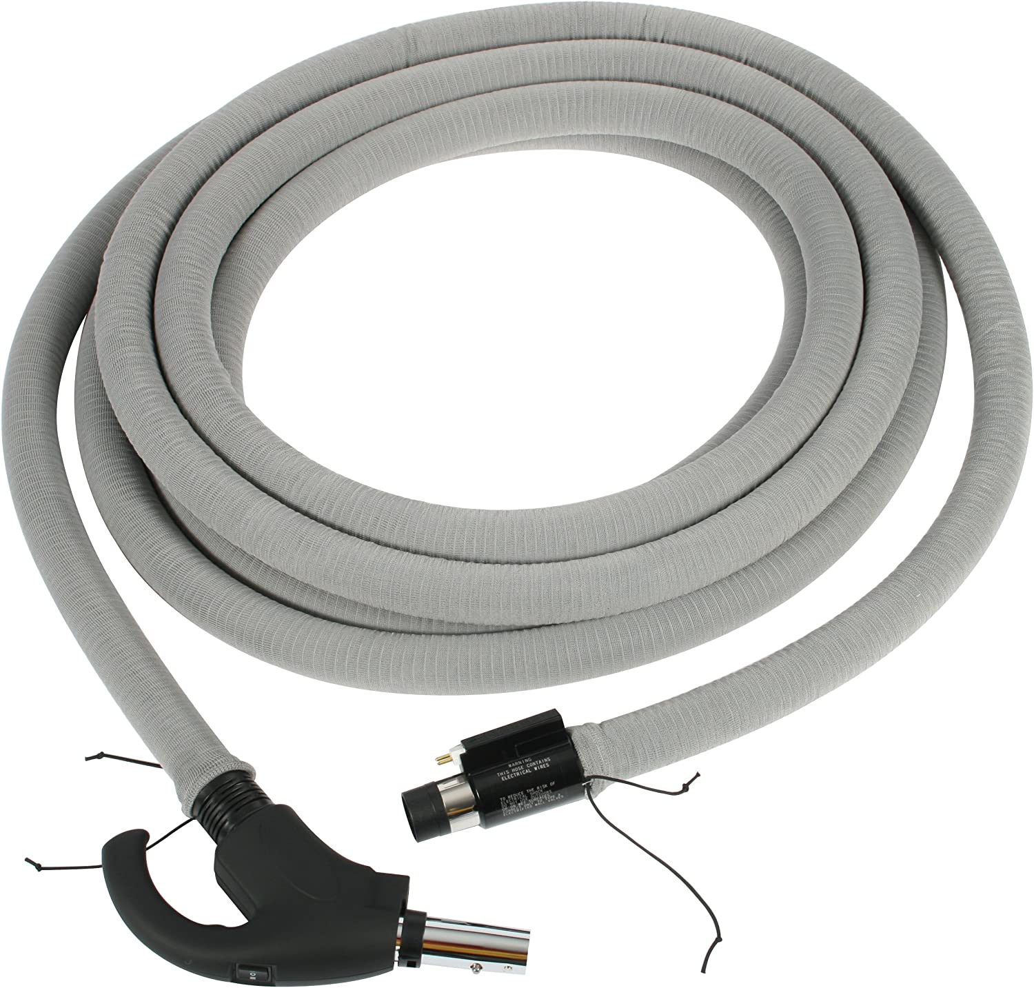 Cen-Tec Systems 90177 Central Vacuum 35 Feet Direct Connect Electric Hose with Hose Sock and Locking Stub Tube